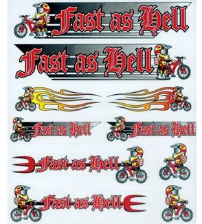 BMX Decal Sets, Stickers To Rejuvenate Any Bike, 6 Styles Available