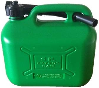 Cosmos Green Plastic Unleaded Can 5 Litre. 03105A
