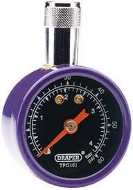 Draper Hand-Held Dual Reading Tyre Pressure Gauge 69923