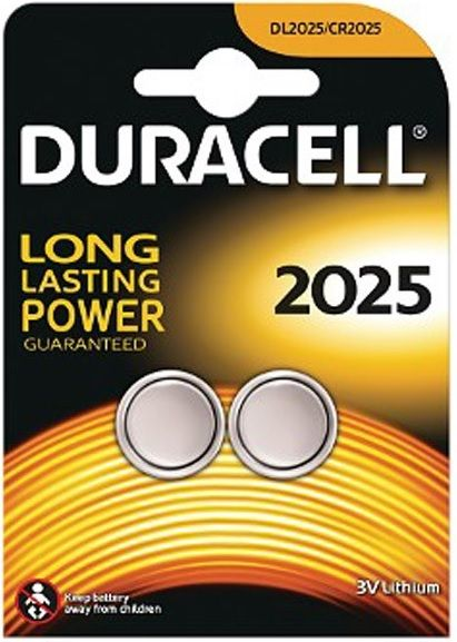 Duracell Long Lasting Power 2 x CR2025 Batteries | Batteries in Carlisle Cumbria
