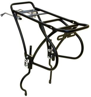 "ETC MTB Alloy Luggage Rack For Bikes With 26"" Wheel With Rear Disc Brake, Black, ECC031B"