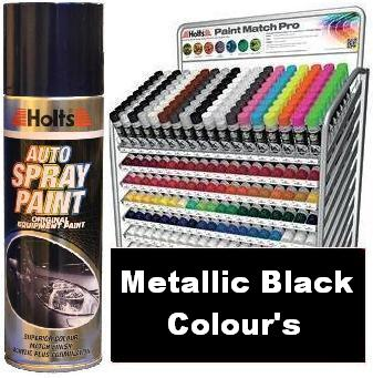 Holts Paint Match Pro Ml Aerosol Metallic Black Colours Holts - Pro paint