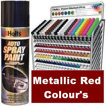 Holts Paint Match Pro. 300ml Aerosol. Metallic Red Colours