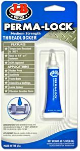J-B Weld Perma-lock Medium Strength Threadlocker 6ml. 24206