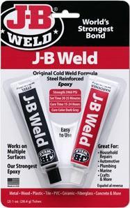 J-B Weld Steel Reinforced Epoxy. The Worlds Strongest Cold Weld. 2 x 28.4g Tubes. 8265-S