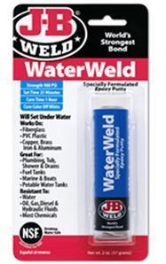 J-B Weld Water Weld, Repair & Seal In Underwater & Wet Conditions. Ideal For Fuel Tanks 57g. 8277