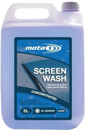 Mota 1 All Seasons Concentrated Screen Wash 5 Litre. SAX005 BUY 1 GET 1 FREE