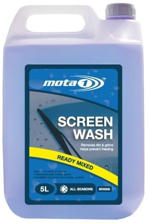 Mota 1 All Seasons Ready Mixed Screen Wash 5 Litre. SRX005