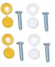 Number Plate Fixings. Various Types
