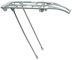 Oxford Bike Rack, Luggage Carrier, Spring Top Alloy, Silver. LC692S