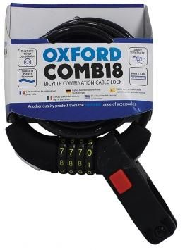 Oxford Combi 8 Resettable Combination Lock, 1.8m Long, Includes Frame Mount. LK689