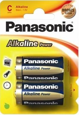 Panasonic C Alkaline Special Power Batteries, Pack of 2, 1.5 Volt. LR14