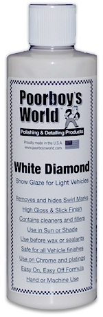Poorboys World White Diamond Show Glaze For Light Vehicles 16oz. 473ml. PB-WD16
