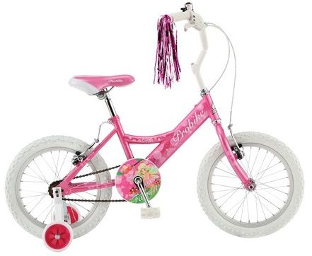 "Probike Fairy 18"" Wheel Girls Bike With Stabilisers. NFRY18"