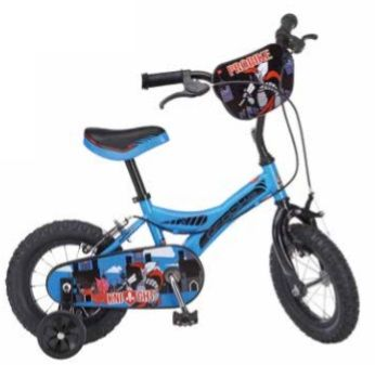"Probike Knight Boys Bike With Stabilisers, 14"" Wheel, PTK14"