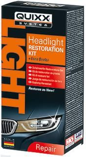 QUIXX Headlight Restoration Kit. Makes Dull Headlights Clear & Transparent. QHRK1