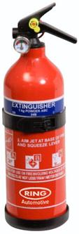 Ring 1kg ABC Dry Powered Fire Extinguisher With Gauge RCT1750