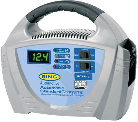 Ring Standard Charge 12, 12v, 12 amp Fully Automatic Battery Charger. RCB212
