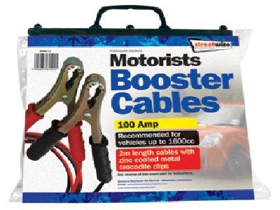 Streetwize 2 Metre Booster Cable with Metal Clips. SWBC11
