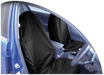 Streetwize Heavy Duty Fully Waterproof Nylon Front Pair Seat Protectors. Black Or Grey