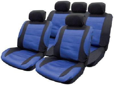 Streetwize Nebraska Blue Racing Mesh Style Seat Cover Set, SWSC60