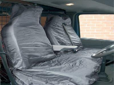 Streetwize Universal Fit Front Set, Air Bag Friendly Van Seat Protectors. Black or Grey Available