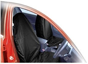 Streetwize Water Resistant Lightweight Front Seat Protectors, Black or Grey Available