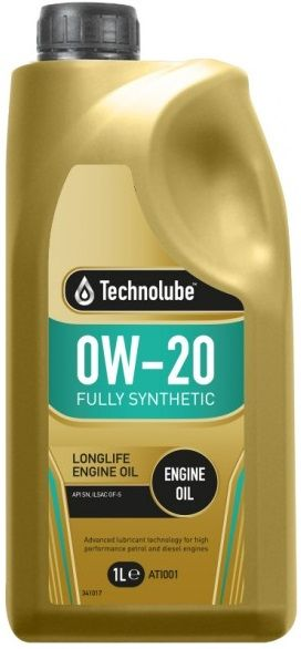 Technolube 0W20 Fully Synthetic Low SAPS Motor Oil. 1 Litre & 5 Litre Available