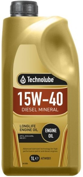 Technolube 15W40 Mineral Diesel Motor Oil. 1 Litre & 5 Litre Available