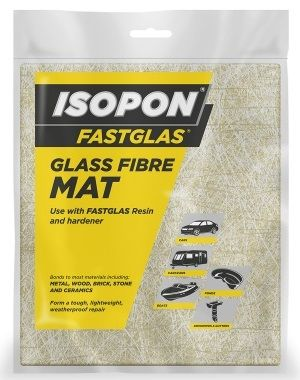 U-pol David's Isopon Fastglas Glass Fibre Mat, 0.55 sq. metre. GFM