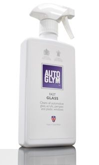 Autoglym Fast Glass, Cleans All Automotive Glass, Acrylic, Perspex & Plastic Windows. 500ml Trigger