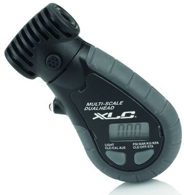 XLC Dual Valve Tyre Pressure Gauge With Bleed Valve. 2501960070