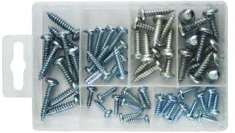 Zinc Plated Self Tapping Screws Assorted Pack. PMA111